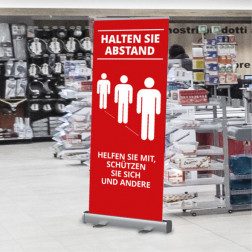 "Roll-Up ""Information Eingang"" 85 x 200 cm mit Motiv"